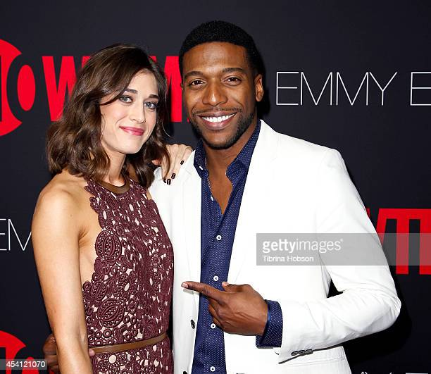Lizzy Caplan and Jocko Sims attend Showtime's 2014 'EmmyEve Soiree' at Sunset Tower on August 24 2014 in West Hollywood California