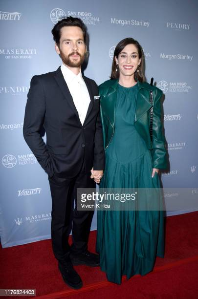 Lizzy Caplan and Tom Riley attend the 2019 San Diego International Film Festival on October 18, 2019 in San Diego, California.