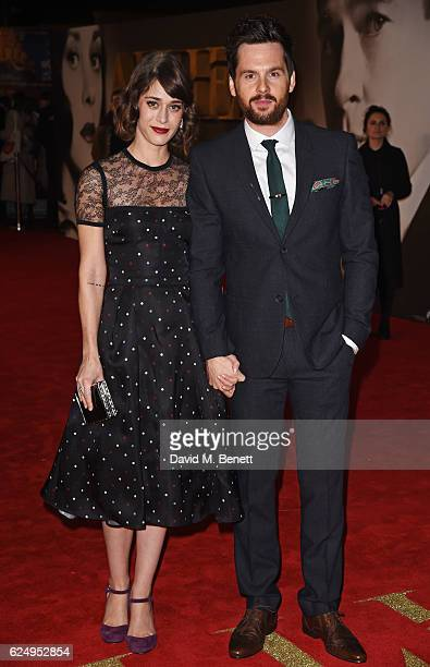 Lizzy Caplan and Tom Riley attend the UK Premiere of 'Allied' at Odeon Leicester Square on November 21 2016 in London England