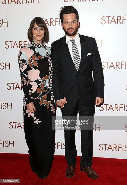 Lizzy Caplan and Tom Riley attends the UK film premiere of 'Starfish' at The Curzon Mayfair on October 27 2016 in London England