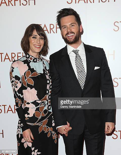 Lizzy Caplan and Tom Riley attends the UK film premiere of Starfish at The Curzon Mayfair on October 27 2016 in London England