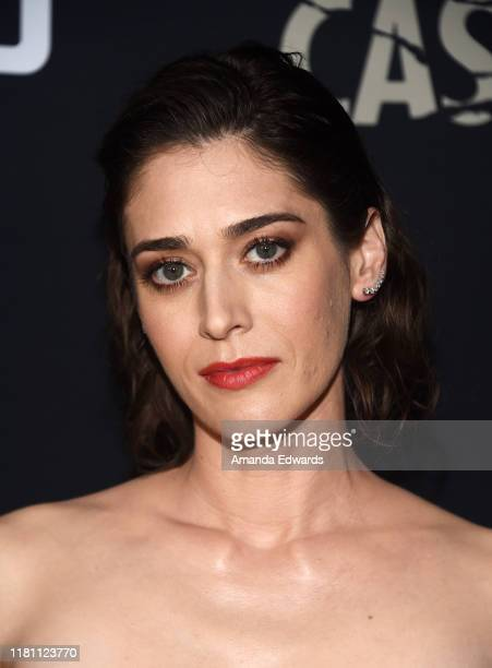 "Lizzy Caplan arrives at the premiere of Hulu's ""Castle Rock"" Season 2 at the AMC Sunset 5 on October 14, 2019 in Los Angeles, California."