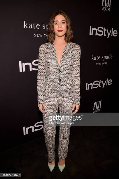 Lizzy Caplan attends the 2018 InStyle Awards at The Getty Center on October 22 2018 in Los Angeles California