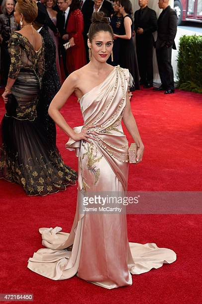 Lizzy Caplan attends the 'China Through The Looking Glass' Costume Institute Benefit Gala at the Metropolitan Museum of Art on May 4 2015 in New York...