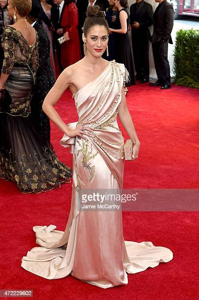 Lizzy Caplan attends the China Through The Looking Glass Costume Institute Benefit Gala at the Metropolitan Museum of Art on May 4 2015 in New York...