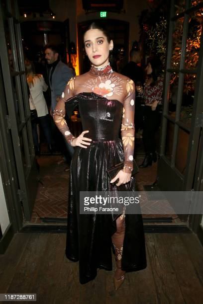Lizzy Caplan attends the Hulu LA Press Party 2019 at Spago on November 12, 2019 in Beverly Hills, California.