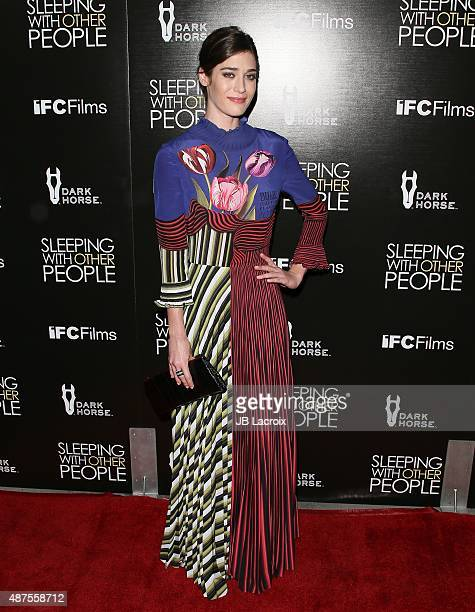 Lizzy Caplan attends the premiere of IFC Films' 'Sleeping with other people' held at ArcLight Cinemas on September 9 2015 in Hollywood California