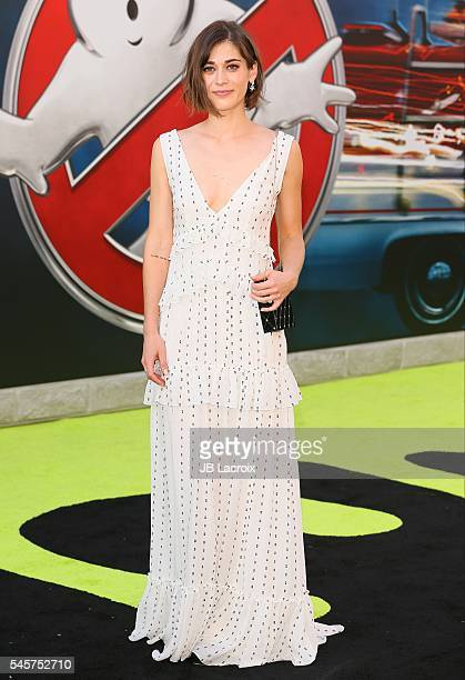 Lizzy Caplan attends the premiere of Sony Pictures' 'Ghostbusters' on July 9 2016 in Hollywood California