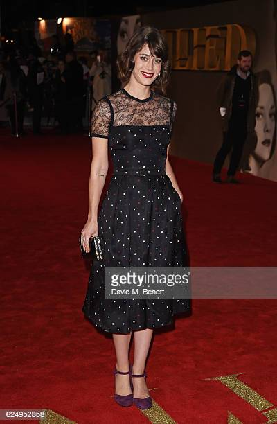 Lizzy Caplan attends the UK Premiere of 'Allied' at Odeon Leicester Square on November 21 2016 in London England