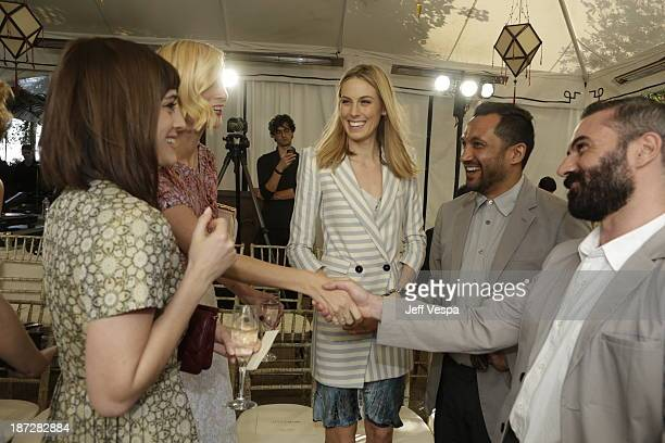 Lizzy Caplan Caitlin FitzGerald Selby Drummond Ryan Lobo and Ramon Martin attend the 2013 CFDA/Vogue Fashion Fund Event Presented by thecornercom and...