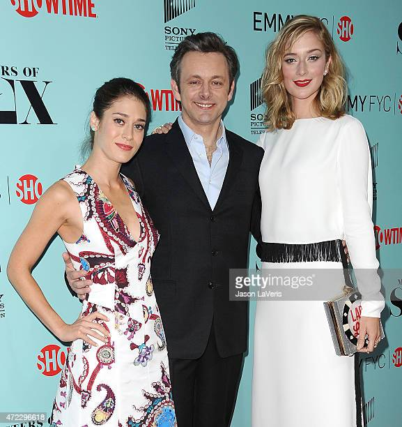 Lizzy Caplan Michael Sheen and Caitlin Fitzgerald attend the Showtime and Sony Pictures Television's Masters Of Sex screening at Cary Grant Theater...