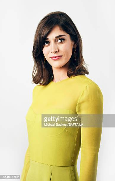 Lizzy Caplan poses for a portrait at the BAFTA luncheon on August 23 2014 in Los Angeles California