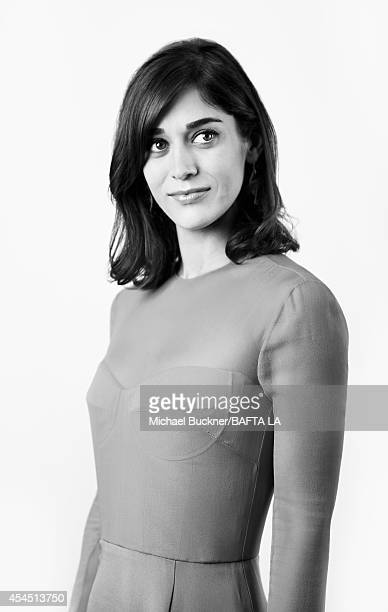 Lizzy Caplan poses for a portrait at the BAFTA luncheon or on August 23 2014 in Los Angeles California