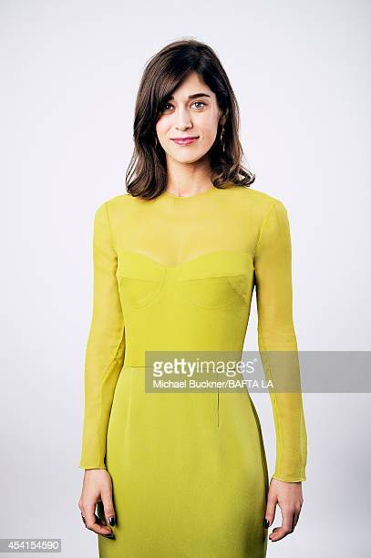 Lizzy Caplan poses for a portrait at the BAFTA Tea Party on August 23 2014 on August 23 2014 in Los Angeles California