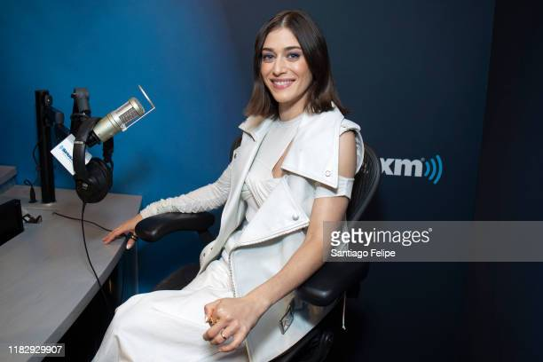 Lizzy Caplan visits SiriusXM Studios on October 23, 2019 in New York City.