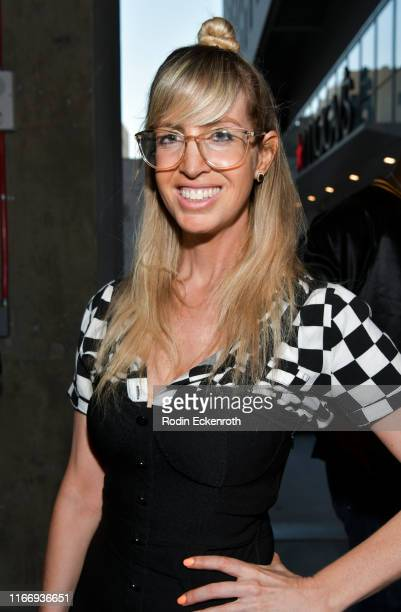 Lizzy Cooperman poses for portrait at the Alamo Drafthouse Los Angeles Big Bash Party at Alamo Drafthouse Cinema on August 08 2019 in Los Angeles...