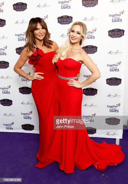 Lizzy Cundy and Kristina Rihanoff attend the Together For Short Livessss 'Nutcracker Ball' at One Marylebone on November 20 2018 in London England...