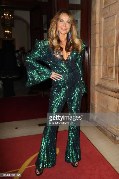 Lizzy Cundy arrives at The Icon Ball during London Fashion Week September 2021 at The Landmark Hotel on September 17, 2021 in London, England.