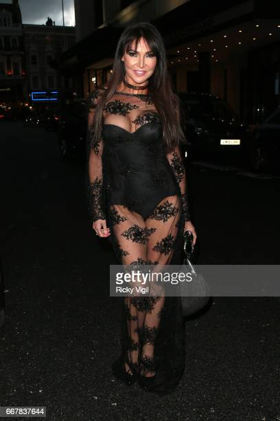Lizzy Cundy attends James Ingham's JogOn to Cancer part 5 at Kensington Roof Gardens on April 12 2017 in London England