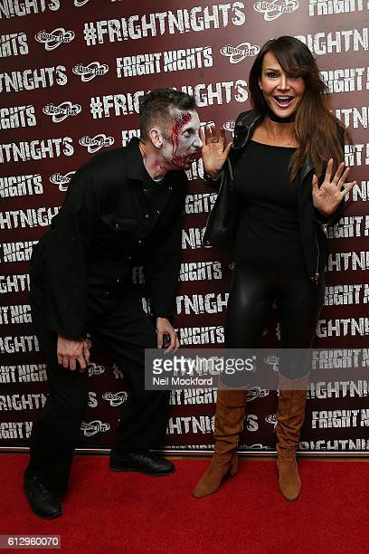 Lizzy Cundy attends the launch of Thorpe Park's Fright Nights at Thorpe Park on October 6 2016 in Chertsey England