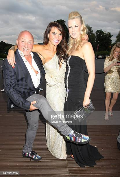 Lizzy Cundy Nikki Zilli and Aldo Zilli attend The F1 Party at Battersea Evolution on July 4 2012 in London England