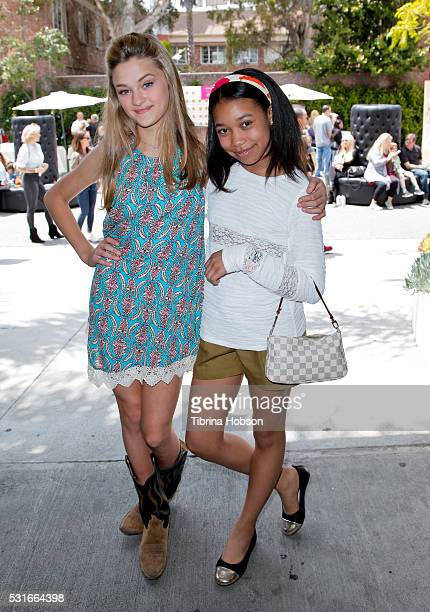 Lizzy Greene and Kyla Drew Simmons attend the We All Play FUNdraiser at The Zimmer Children's Museum on May 15 2016 in Los Angeles California