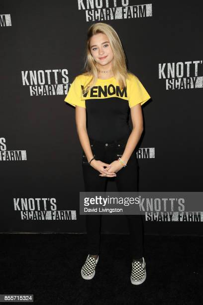 Lizzy Greene attends the Knott's Scary Farm and Instagram's Celebrity Night at Knott's Berry Farm on September 29 2017 in Buena Park California