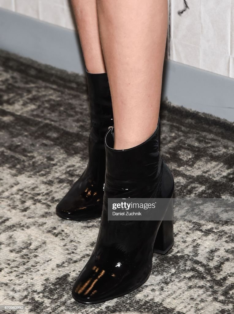 Lizzy Greene, boots detail, attends the Build Series to discuss Nickelodeon's 'Tiny Christmas' at Build Studio on November 6, 2017 in New York City.