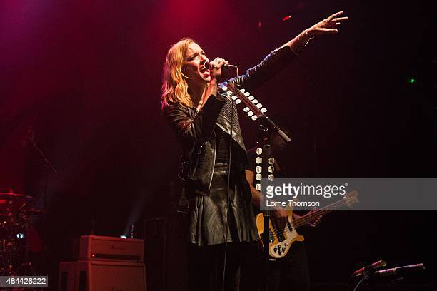 Lizzy Hale of Halestorm performs at KOKO on August 18 2015 in London England