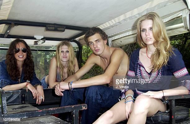 Lizzy Jagger Alexandra Richards Jake Sumner and Theodora Richards
