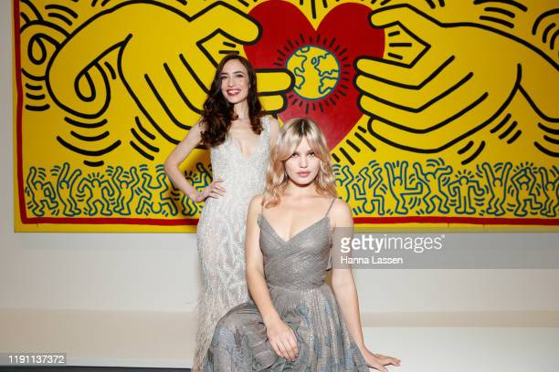 Lizzy Jagger and Georgia May Jagger attend NGV Gala 2019 at the National Gallery of Victoria on November 30 2019 in Melbourne Australia