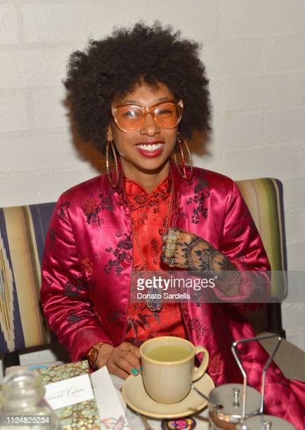 Lizzy Jeff attends Liz Goldwyn and MATCHESFASHIONCOM celebrate the launch of Frieze LA at Gracias Madre on February 13 2019 in West Hollywood...