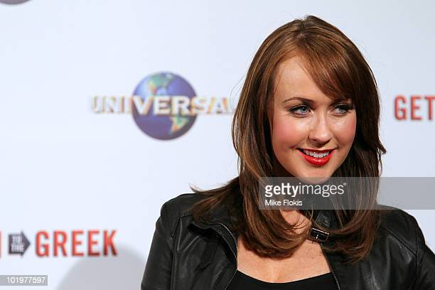 Lizzy Lovette arrives at the premiere of 'Get Him To The Greek' at Event Cinemas George Street on June 11 2010 in Sydney Australia