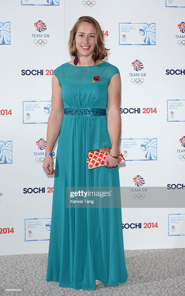 Lizzy Yarnold attends the British Olympic Ball at The Dorchester on October 30, 2013 in London, England.