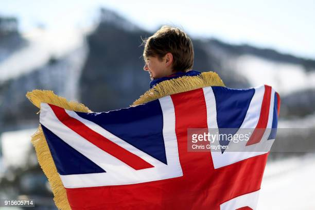 Lizzy Yarnold of Great Britain poses after being named Team GB flag bearer for the Opening Ceremony of the PyeongChang 2018 Winter Olympic Games on...