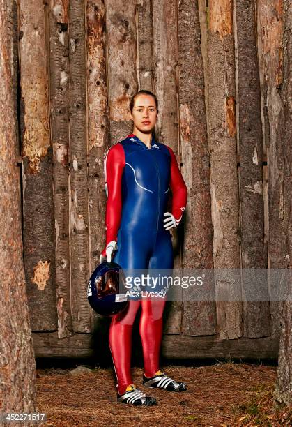 Lizzy Yarnold of the Great Britain Skeleton team is photographed for a portrait shoot she prepares for the Winter Olympics in Sochi Russia...