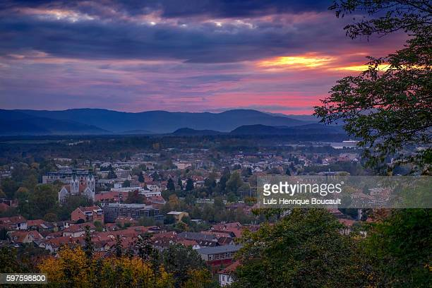 Ljubliana and the sunset