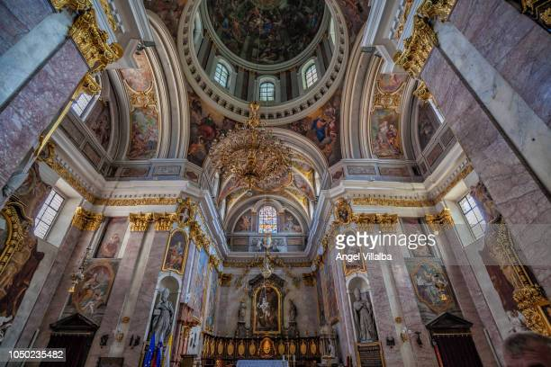 ljubljana. interior of the cathedral - ljubljana stock pictures, royalty-free photos & images