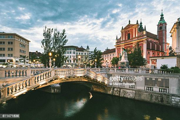 ljubljana, slovenia, east europe. - slowenien stock-fotos und bilder