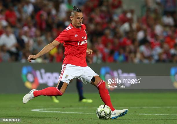 Ljubomir Fejsa from SL Benfica in action during the International Champions Cup match between SL Benfica and Lyon at Estadio Algarve on August 1 2018...