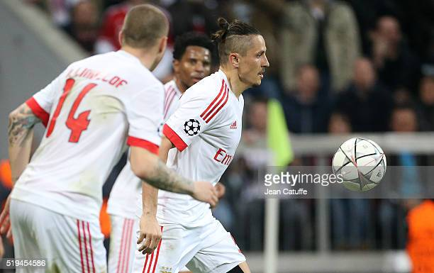 Ljubomir Fejsa of Benfica in action during the UEFA Champions League quarter final first leg match between FC Bayern Muenchen and SL Benfica Lisbon...