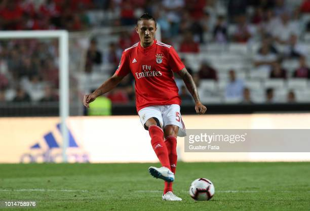 Ljubomir Fejsa of SL Benfica in action during the Liga NOS match between SL Benfica and Vitoria SC at Estadio da Luz on August 10 2018 in Lisbon...