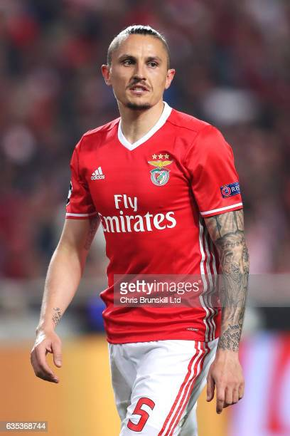 Ljubomir Fejsa of SL Benfica looks on during the UEFA Champions League Round of 16 first leg match between SL Benfica and Borussia Dortmund at...