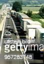 LKWStau auf der Autobahn A 12 vor der deutschpolnischen Grenze bei Frankfurt / Oder