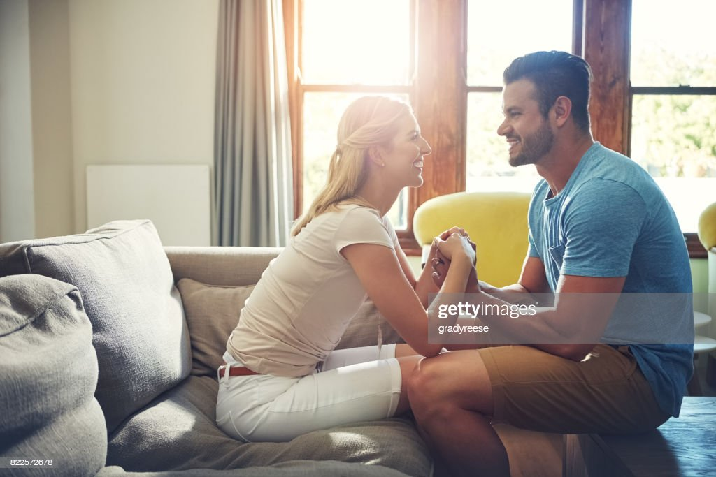I'll definitely move in with you! : Stock Photo