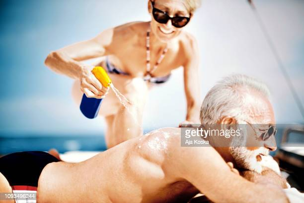 i'll take care of your skin. - cancer de pele imagens e fotografias de stock