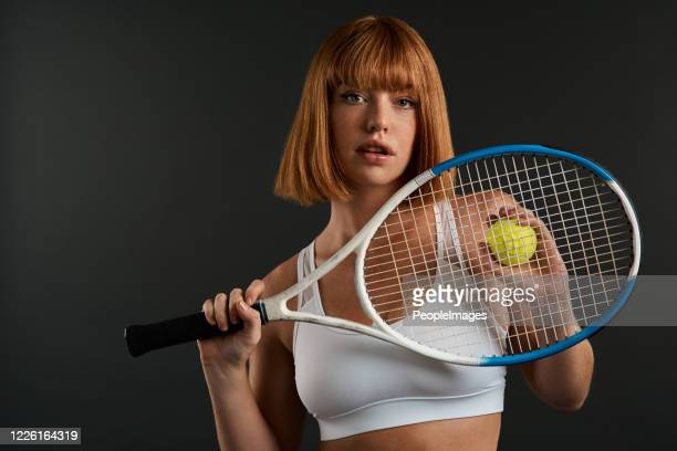 i'll teach you how to serve like a pro - tennis player stock pictures, royalty-free photos & images