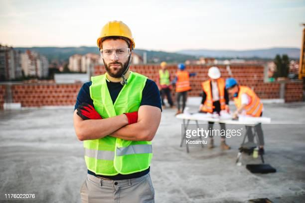 convertiré tus sueños de construcción en realidad - ingeniero civil fotografías e imágenes de stock
