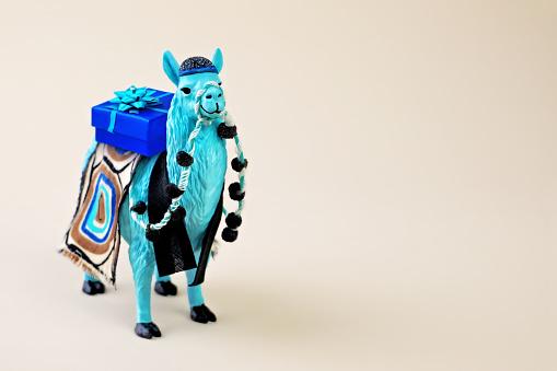 Llama with gift box - gettyimageskorea