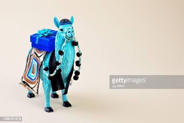 Llama with gift box